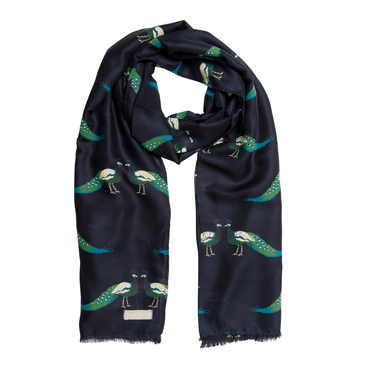 Peacocks Printed Scarf