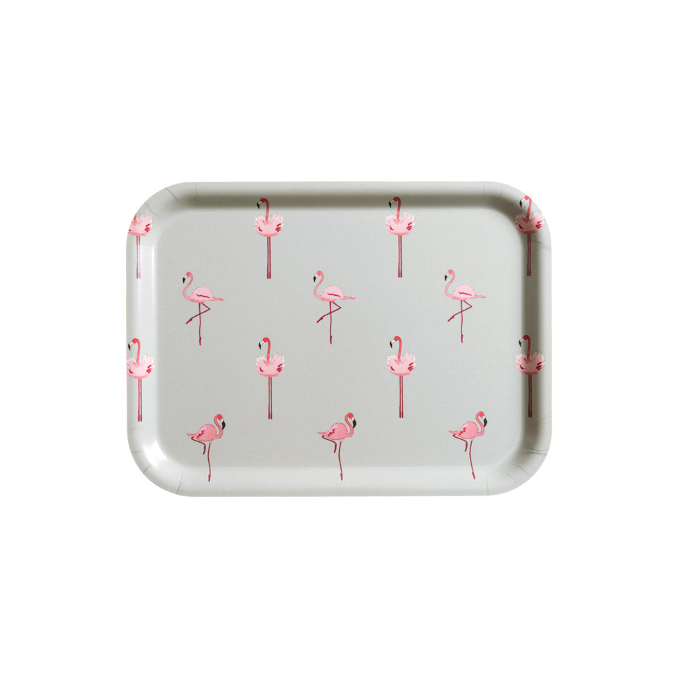 Flamingo Printed Tray