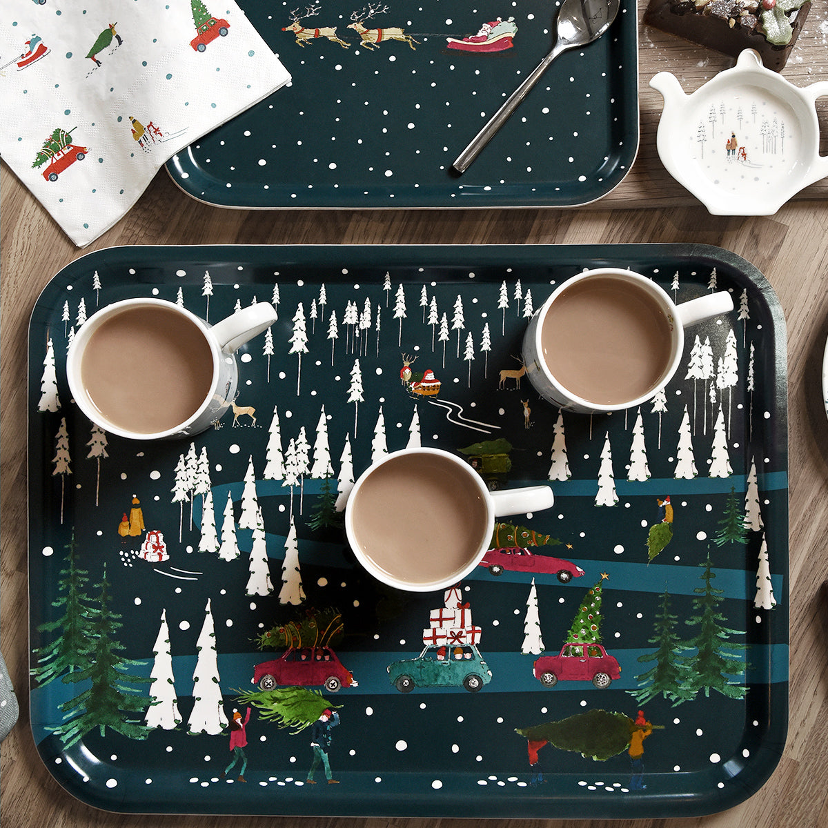 Home for Christmas Printed Tray