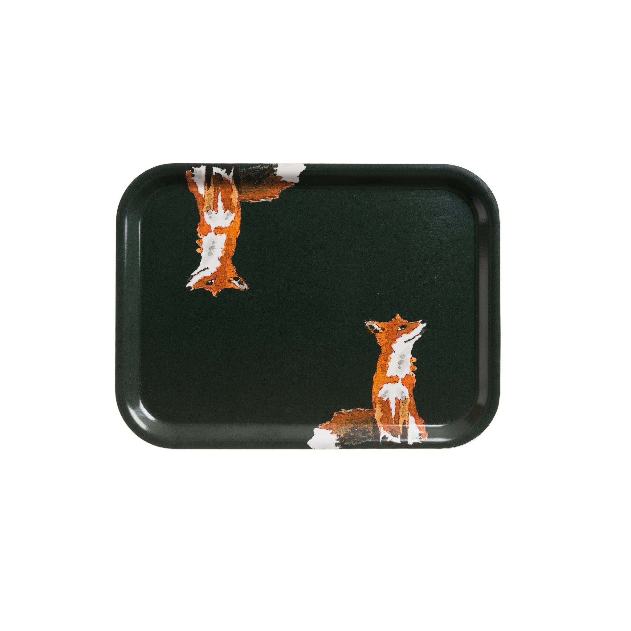 Printed Tray - Large - Foxes