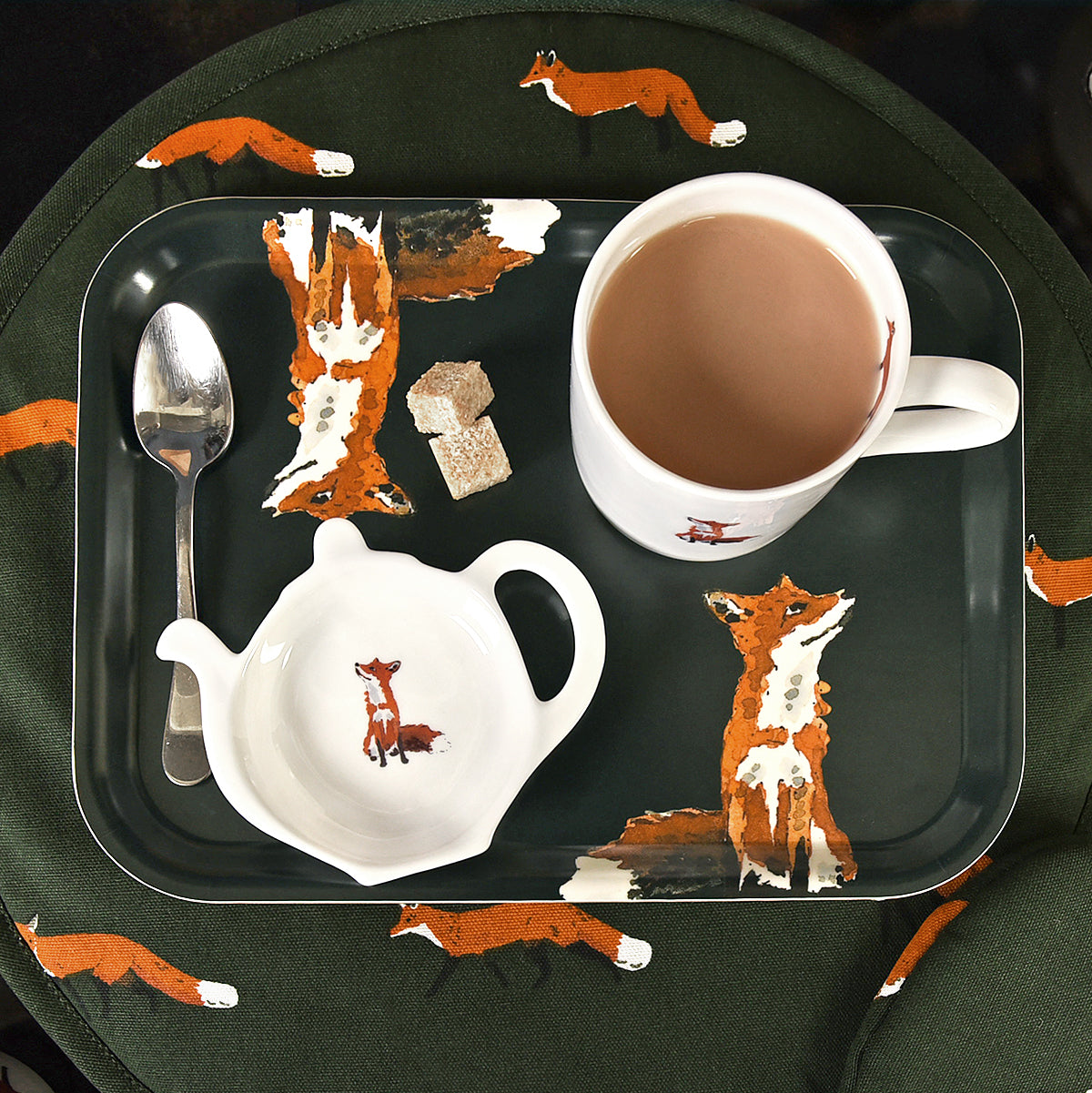 Foxes Printed Tray