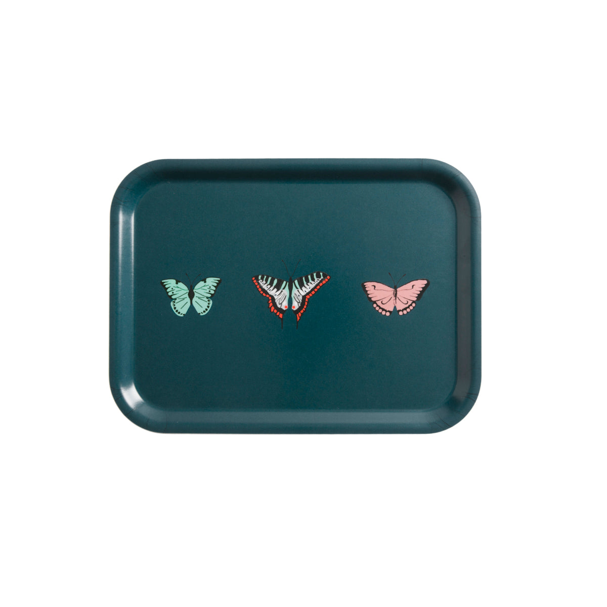 Sophie Allport butterflies printed tray, available in two sizes.