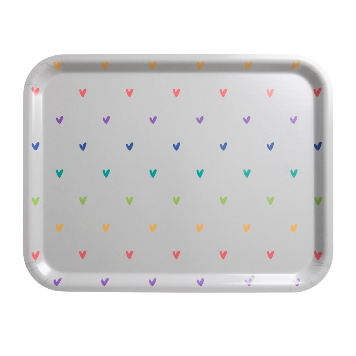 Hearts Printed Tray by Sophie Allport