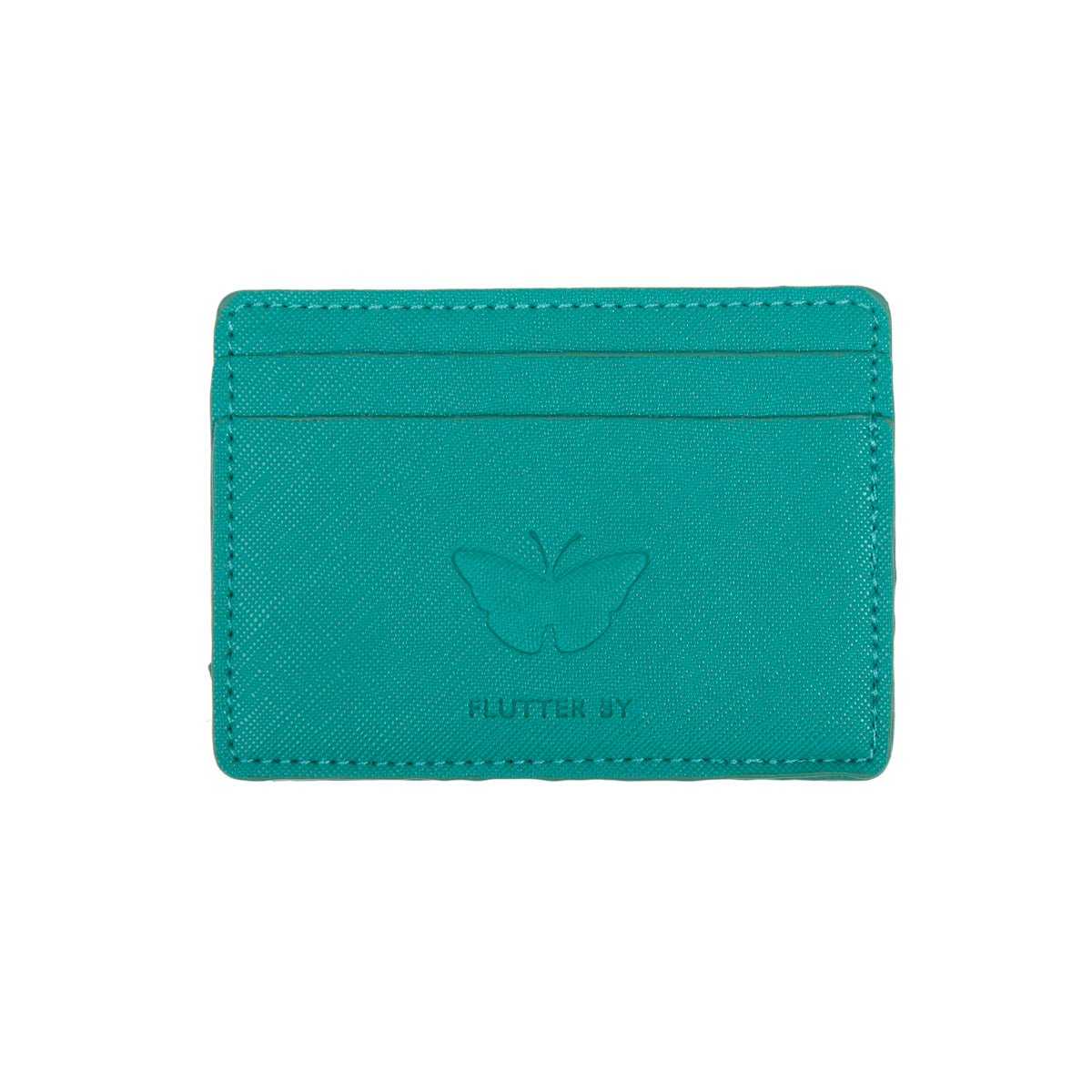 Teal butterflies card holder by Sophie Allport.