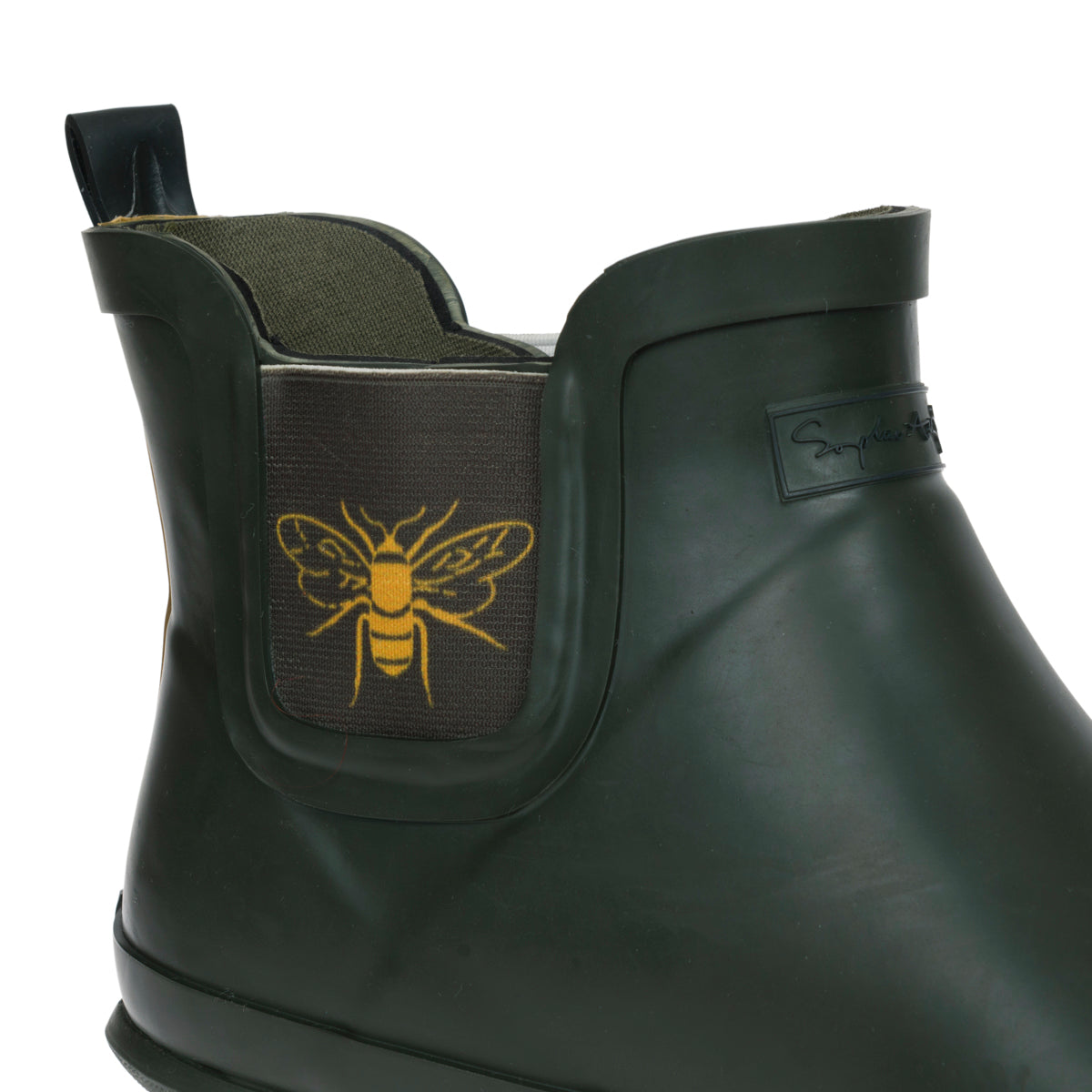 Sophie Allport Bees Ankle Wellies Detailing