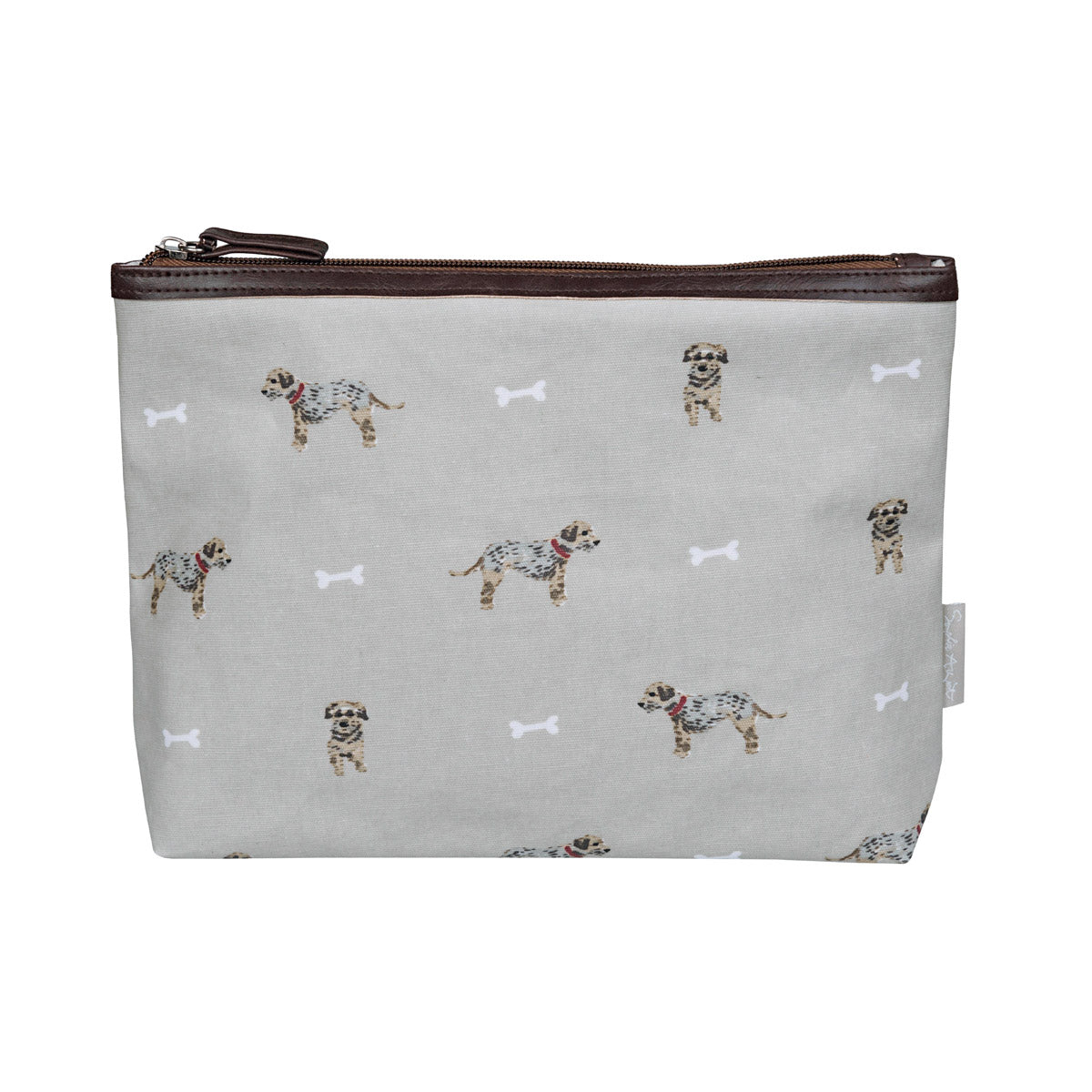 Terrier Oilcloth Wash Bag