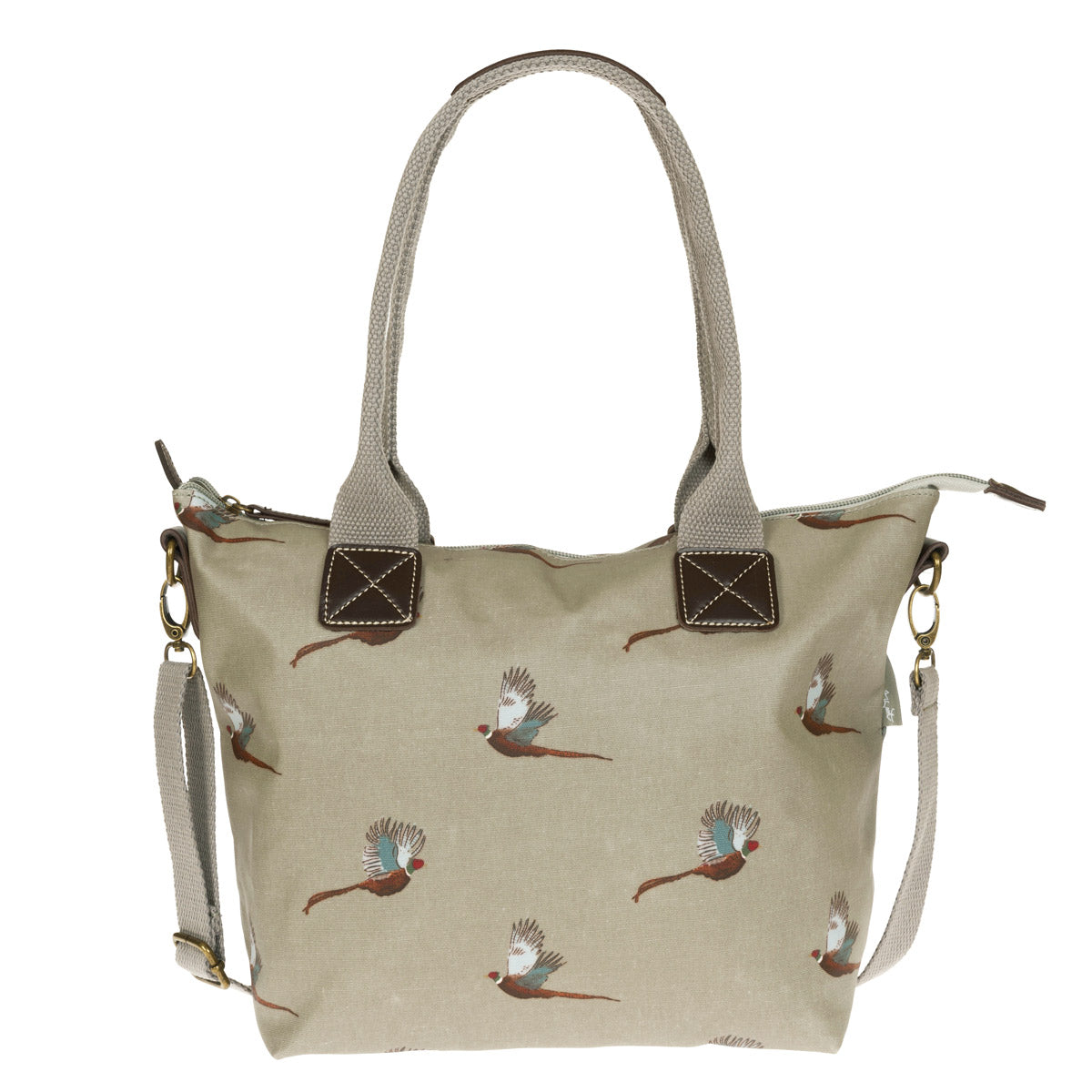 Pheasant Mini Oilcloth Oundle Bag