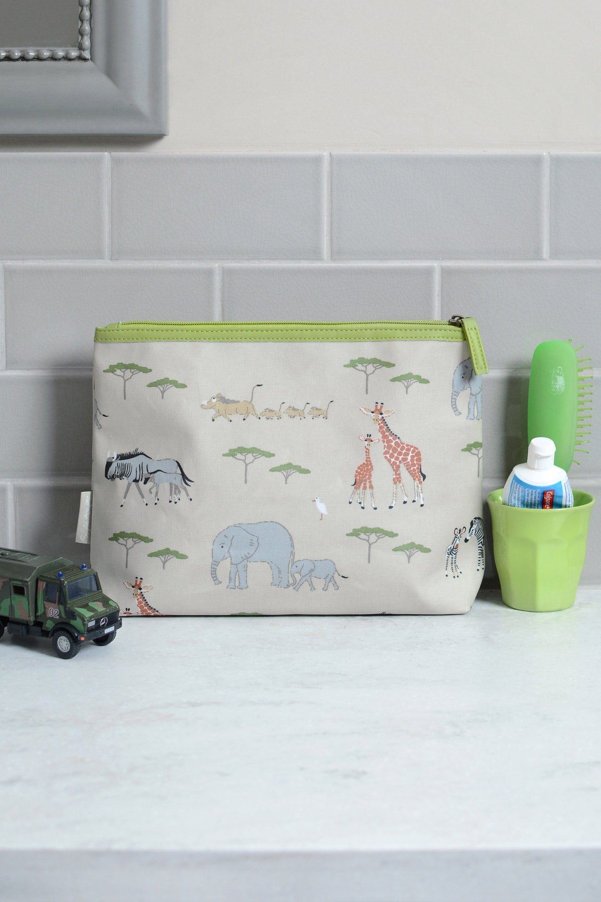 Safari Oilcloth Wash Bag