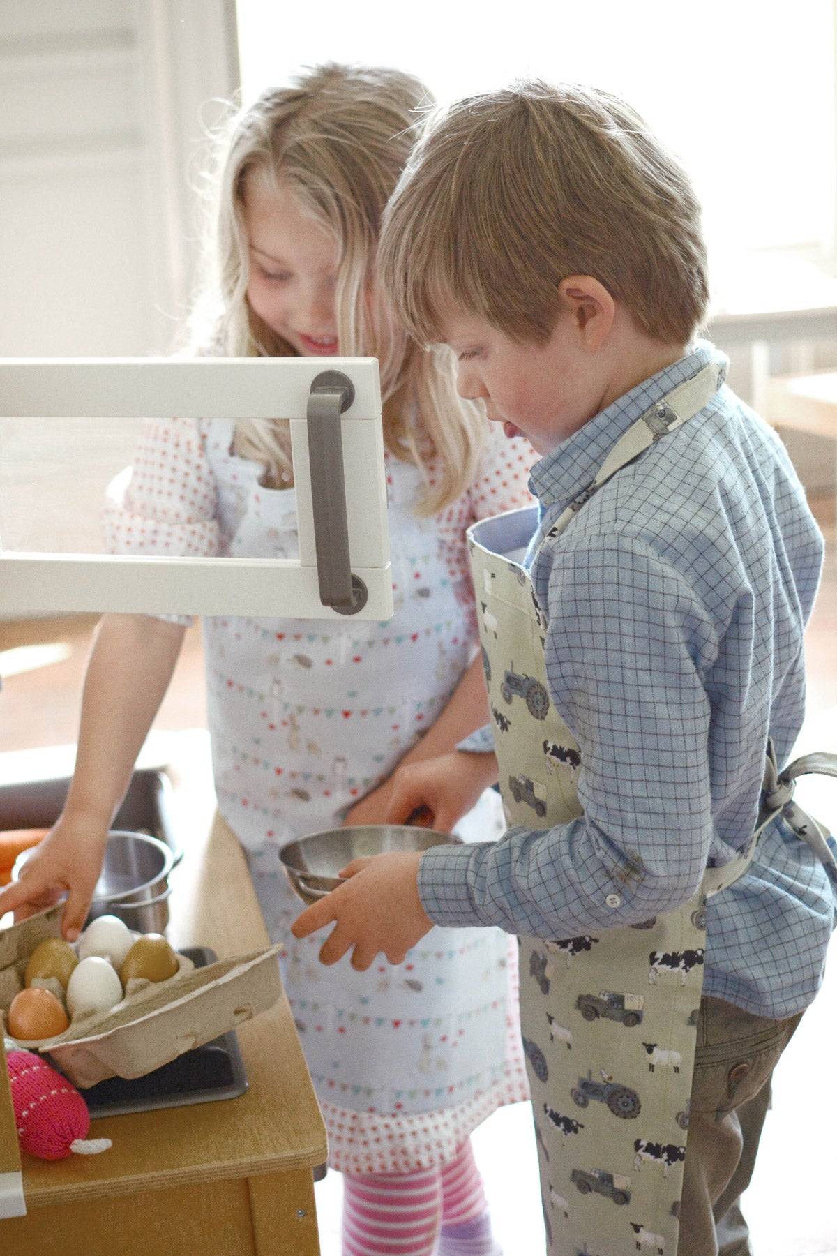 On The Farm Kids Oilcloth Apron