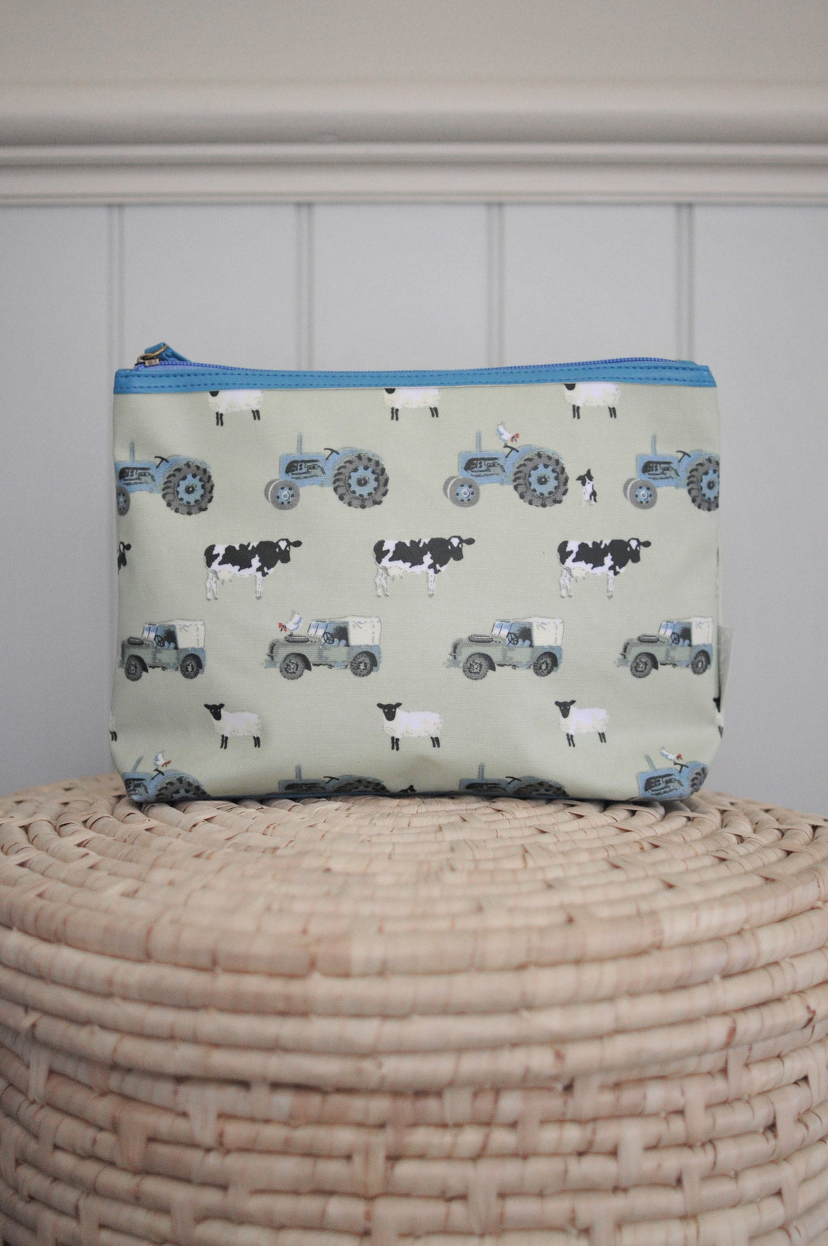 On The Farm Oilcloth Wash Bag