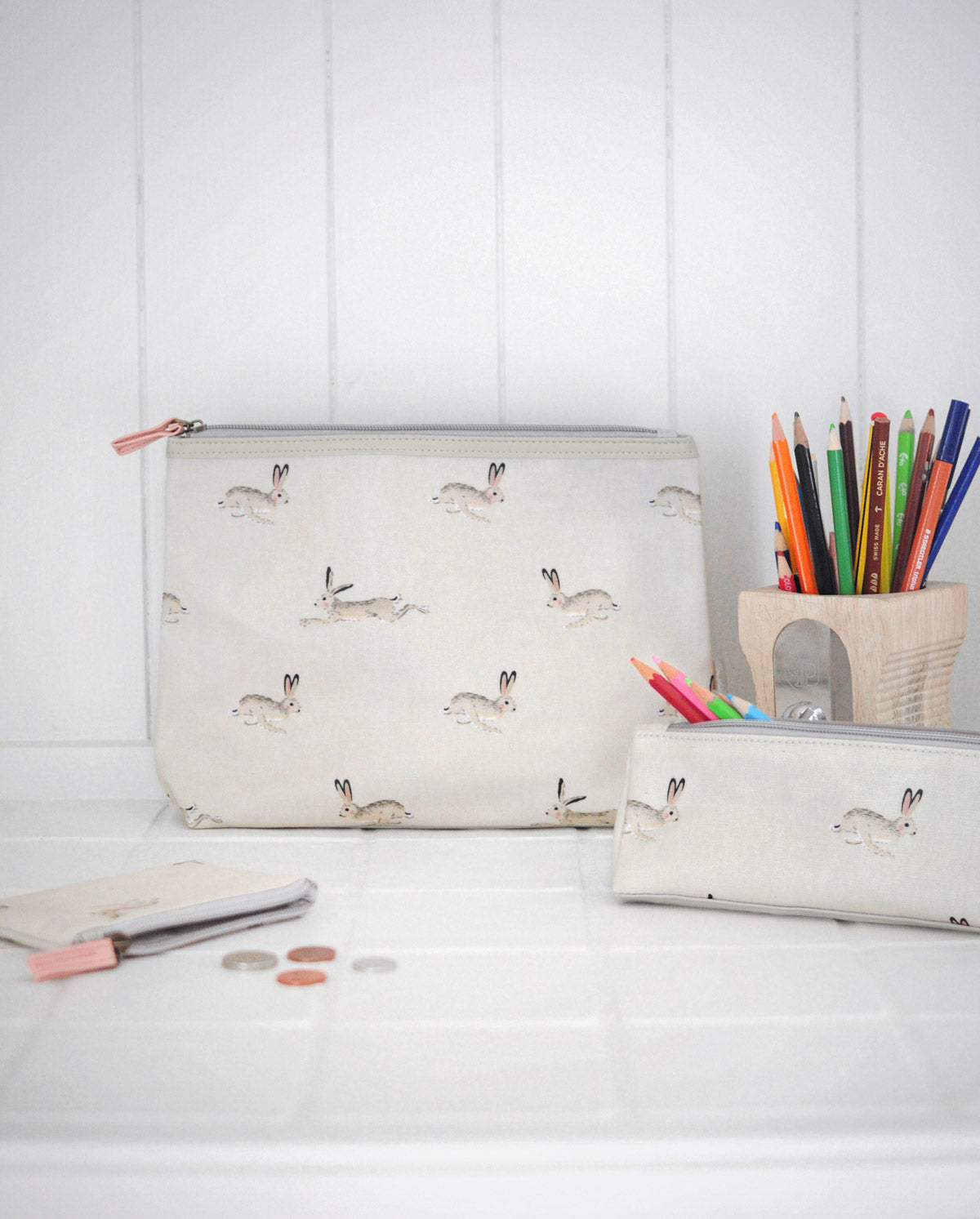 Hare Oilcloth Pencil Case