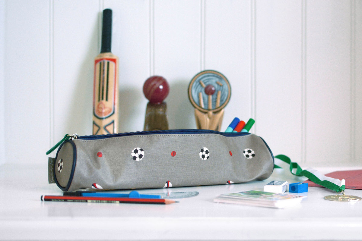 Balls Oilcloth Pencil Case