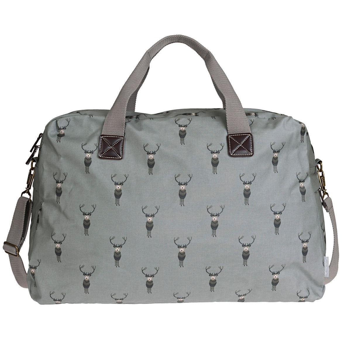 Highland Stag Oilcloth Weekend Bag