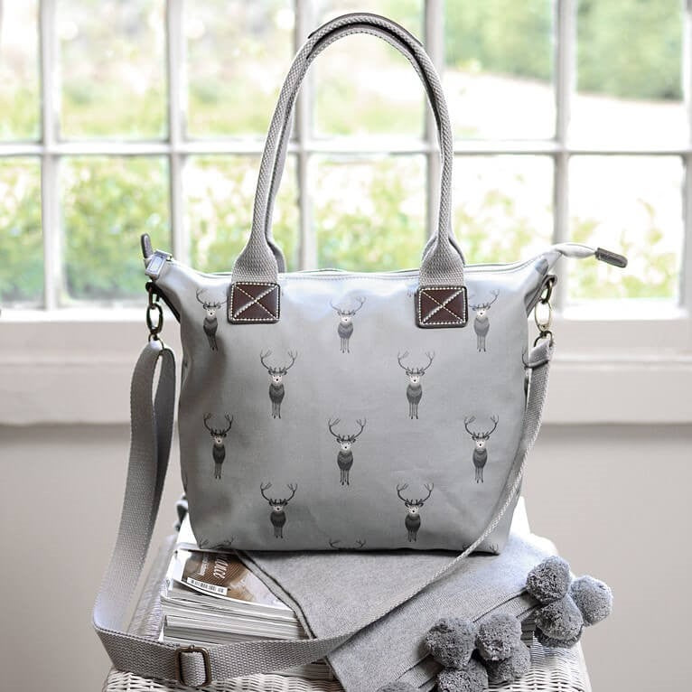 Highland Stag Oilcloth Oundle Bag