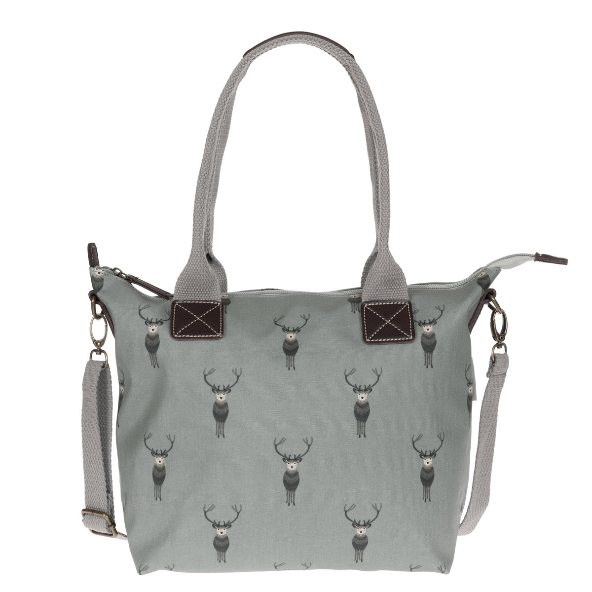 Highland Stag Mini Oilcloth Oundle Bag