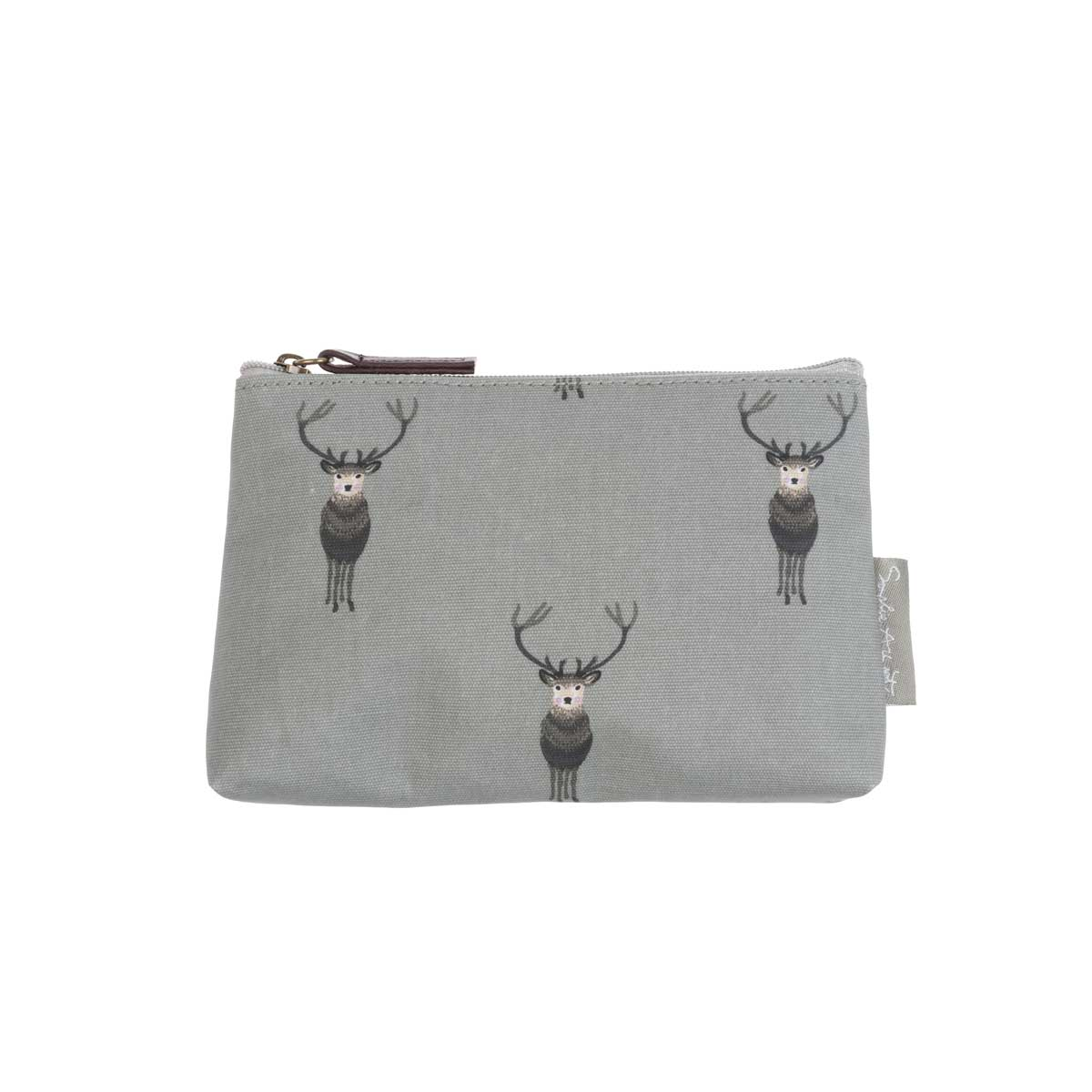 Highland Stag Oilcloth Cosmetic Pouch
