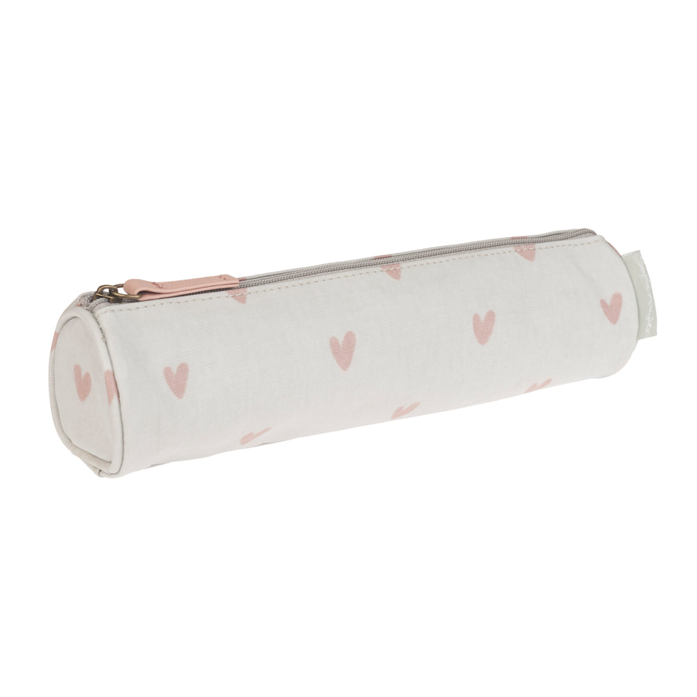 Hearts Oilcloth Pencil Case