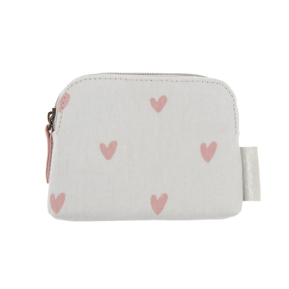Hearts Oilcloth Coin Purse