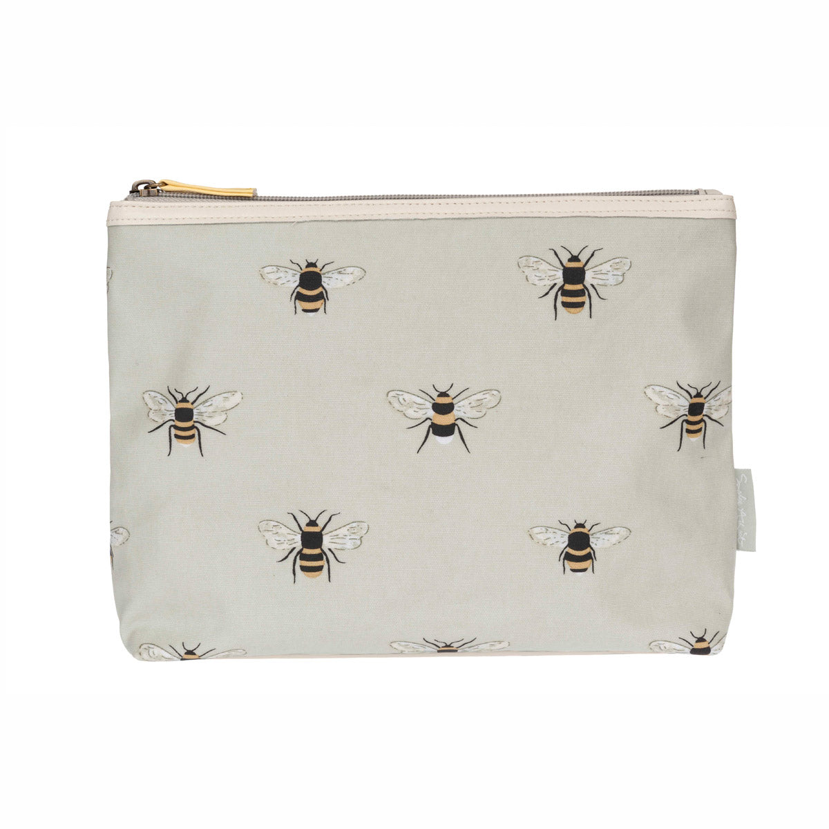 Bees Oilcloth Wash Bag