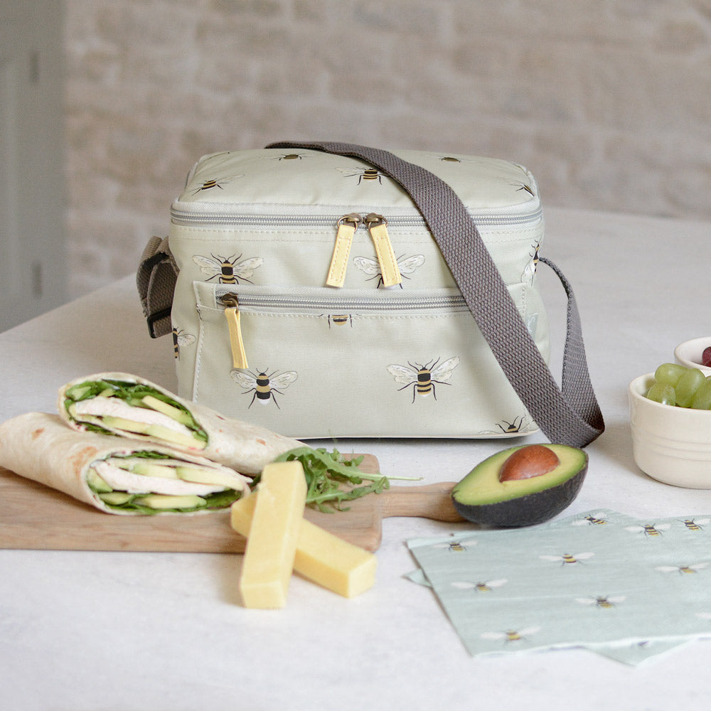 Bees Oilcloth Lunch Bag