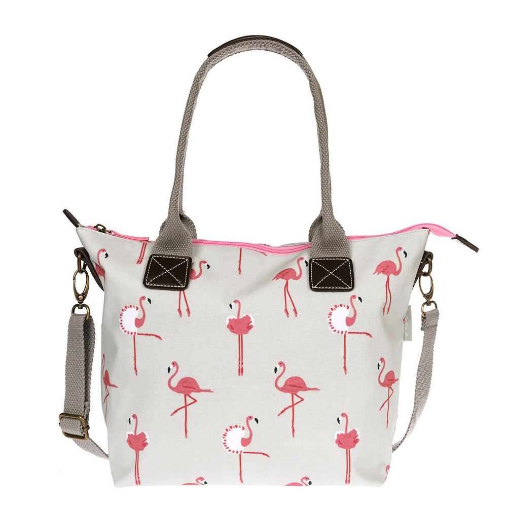 Flamingos Mini Oilcloth Oundle Bag