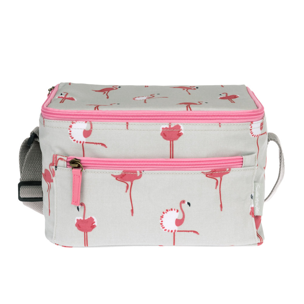 Flamingos Oilcloth Lunch Bag