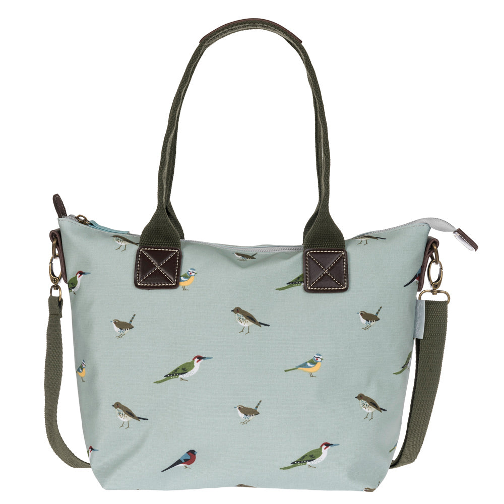 Garden Birds Mini Oilcloth Oundle Bag