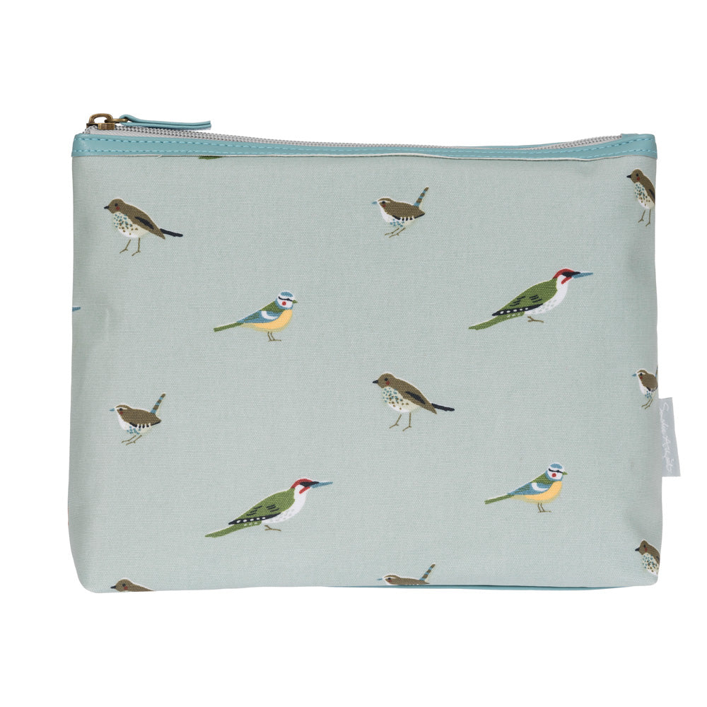 Garden Birds Oilcloth Wash Bag