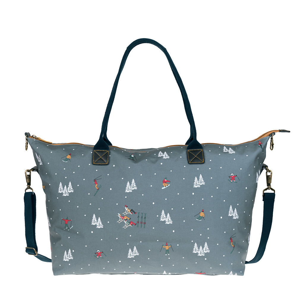 Skiing Oilcloth Weekend Oundle Bag