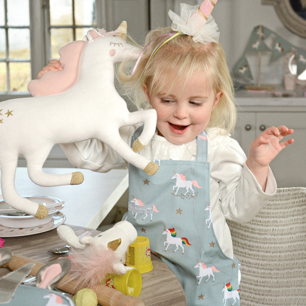 Unicorn Oilcloth Child Apron