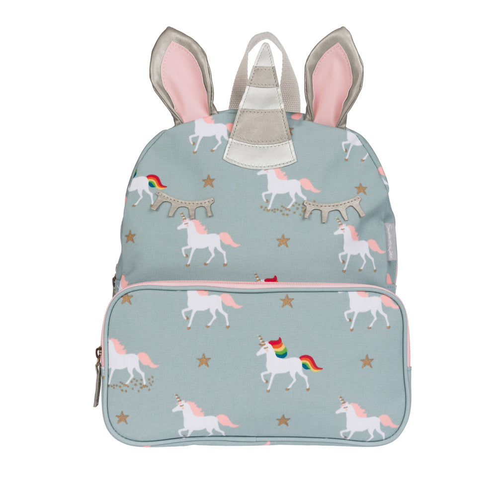 Unicorn Oilcloth Backpack