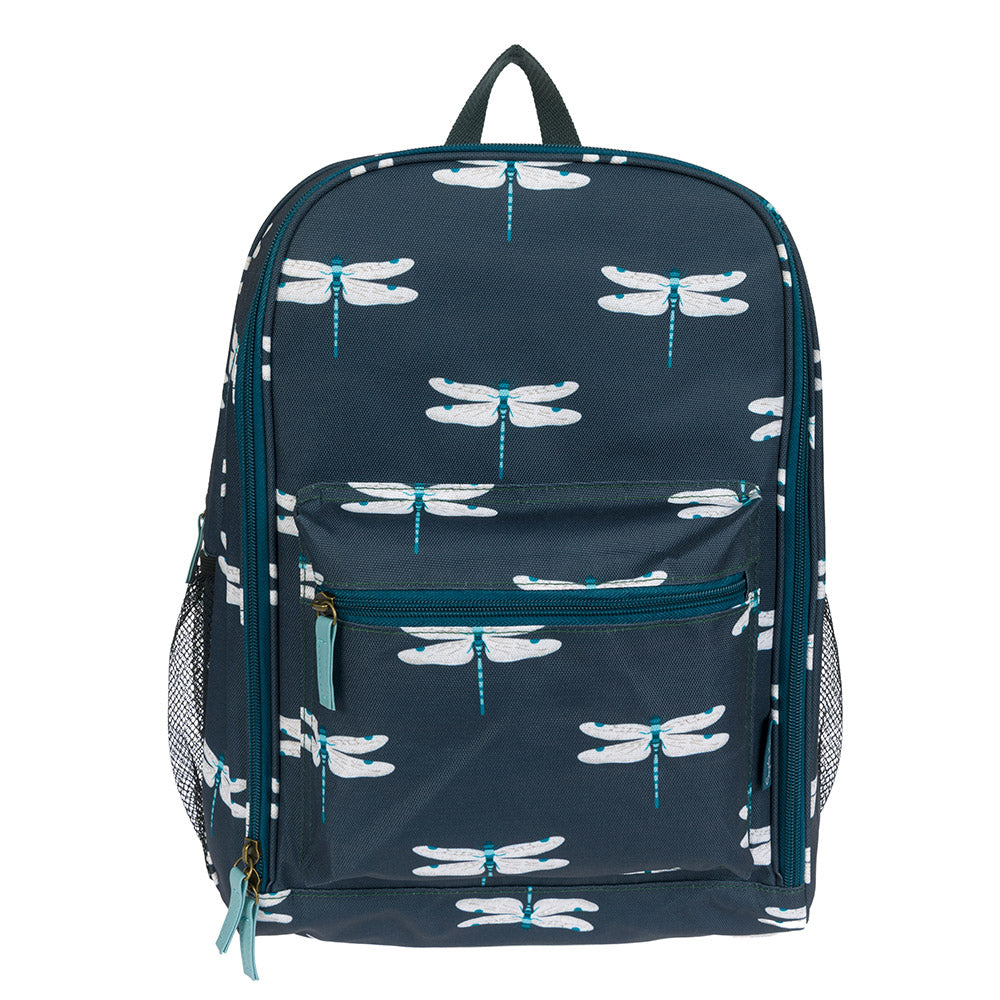 Dragonfly Oilcloth Picnic Rucksack