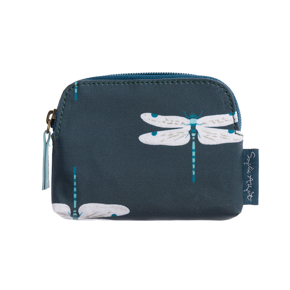 Dragonfly Oilcloth Coin Purse