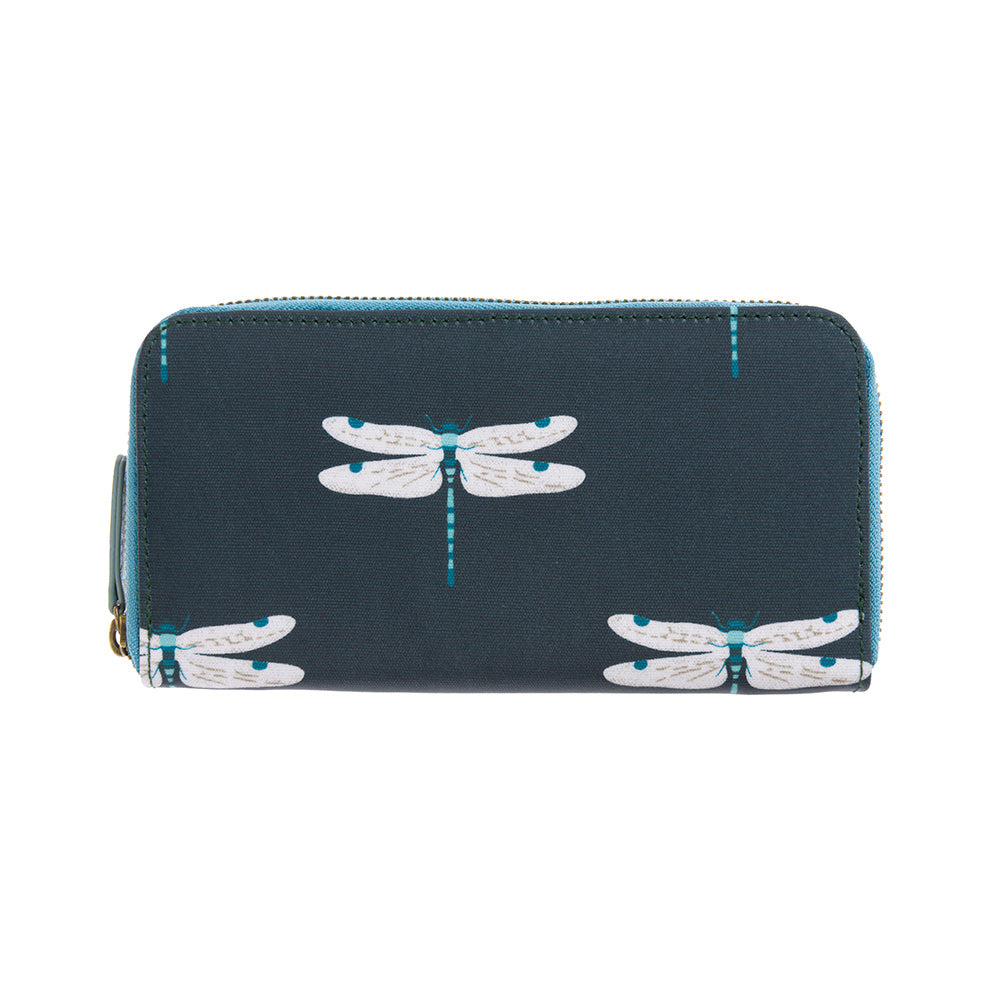 Dragonfly Oilcloth Zipped Wallet Purse