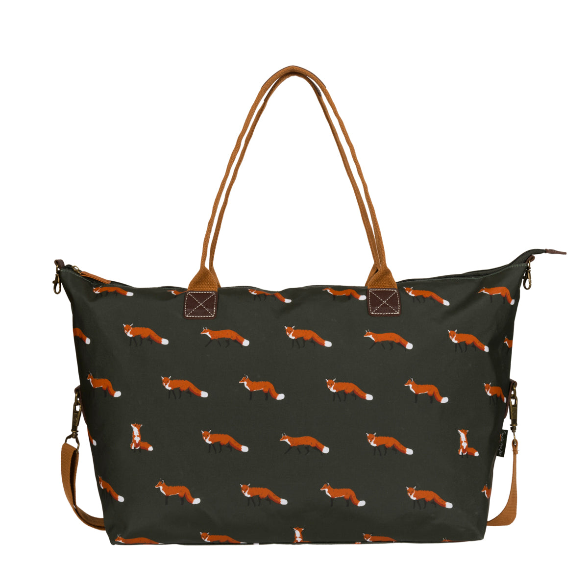Foxes Oilcloth Oundle Weekend Bag