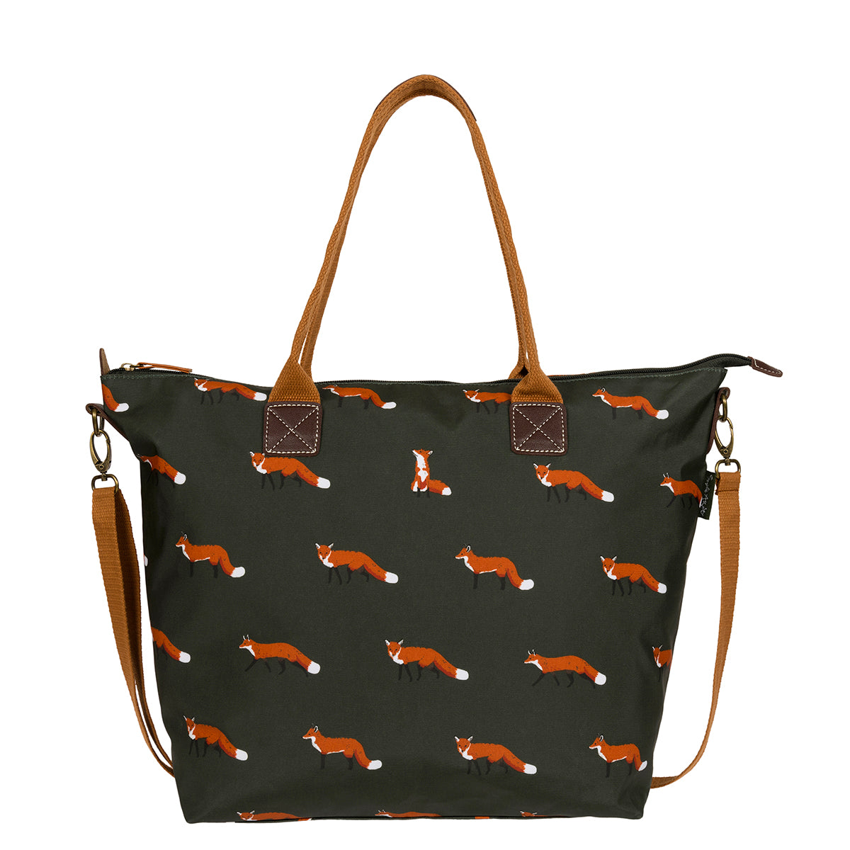 Foxes Oilcloth Oundle Bag