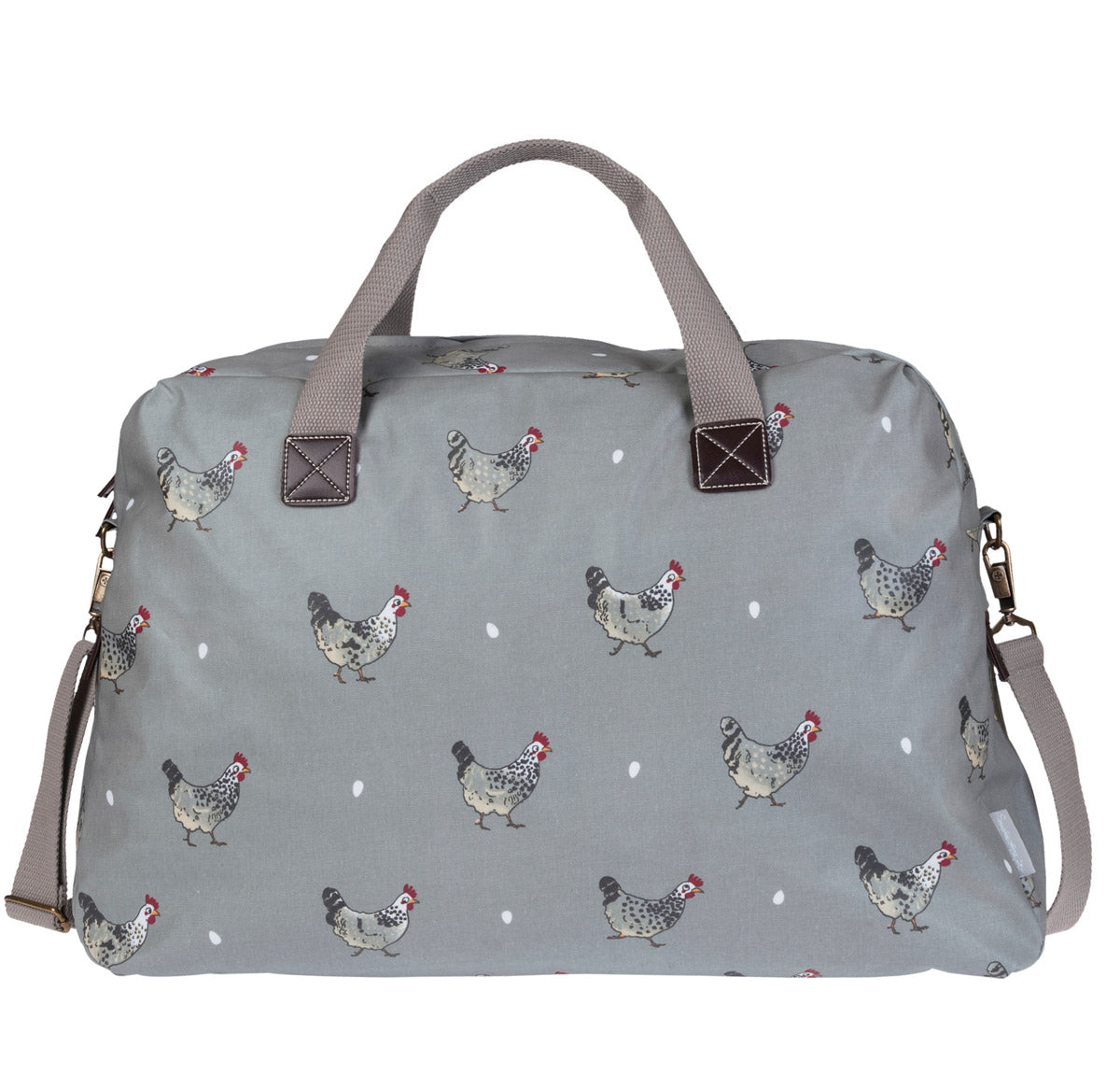 Chicken Oilcloth Weekend Bag