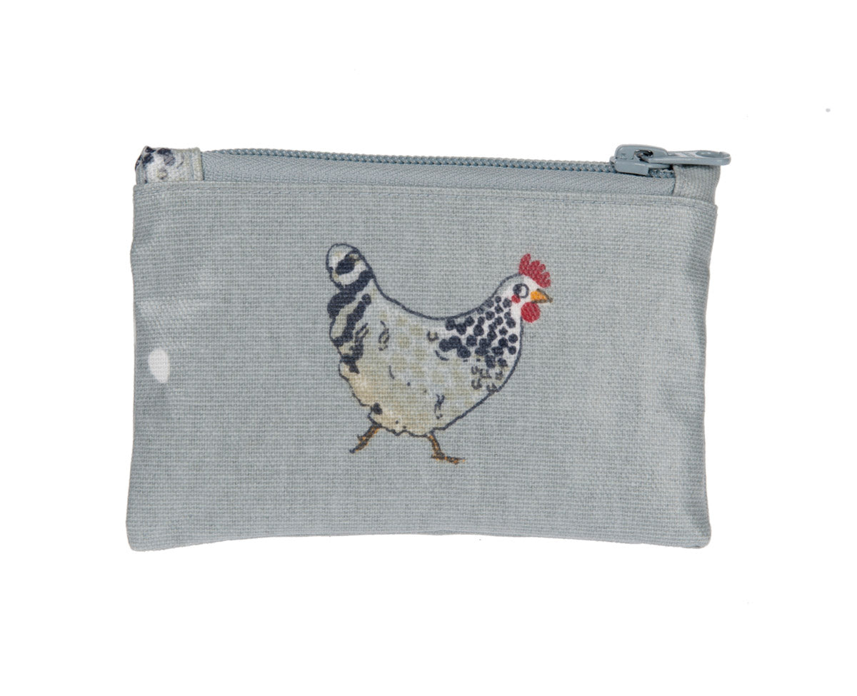 Chicken Oilcloth Purse