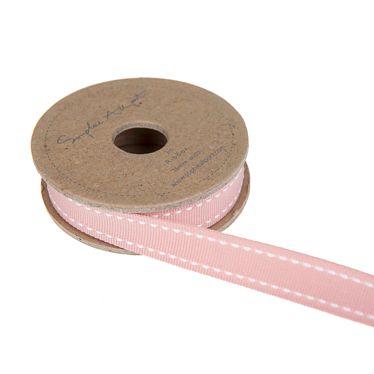 Ballet Pink with White Stitch Ribbon