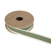 Leaf Green Stripe Ribbon on Spool