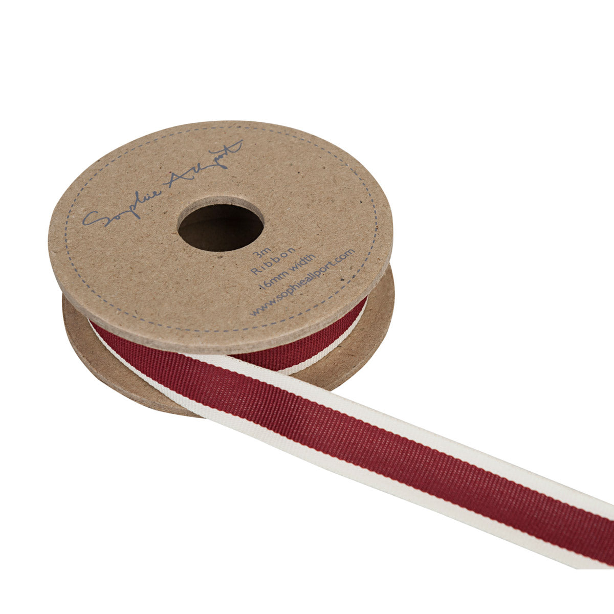 Claret Red Stripe Ribbon