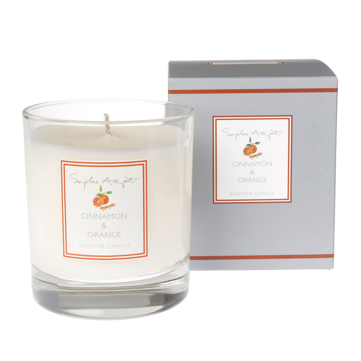 Cinnamon Orange Scented Candle 220g By Sophie Allport