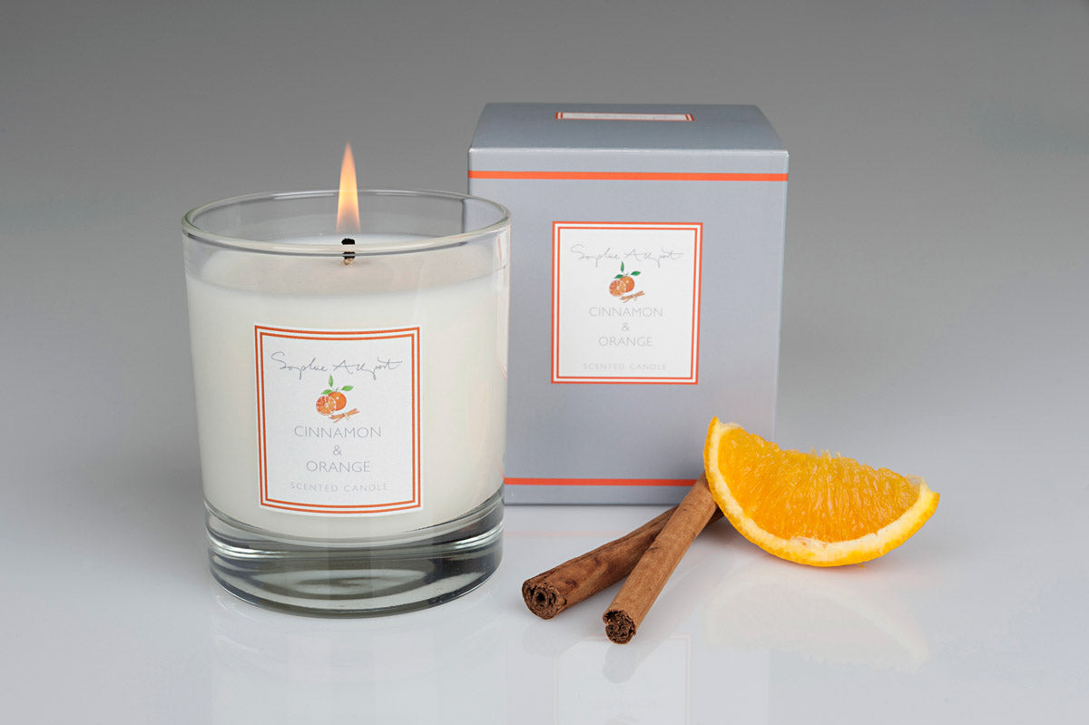 Cinnamon & Orange Scented Candle -220g