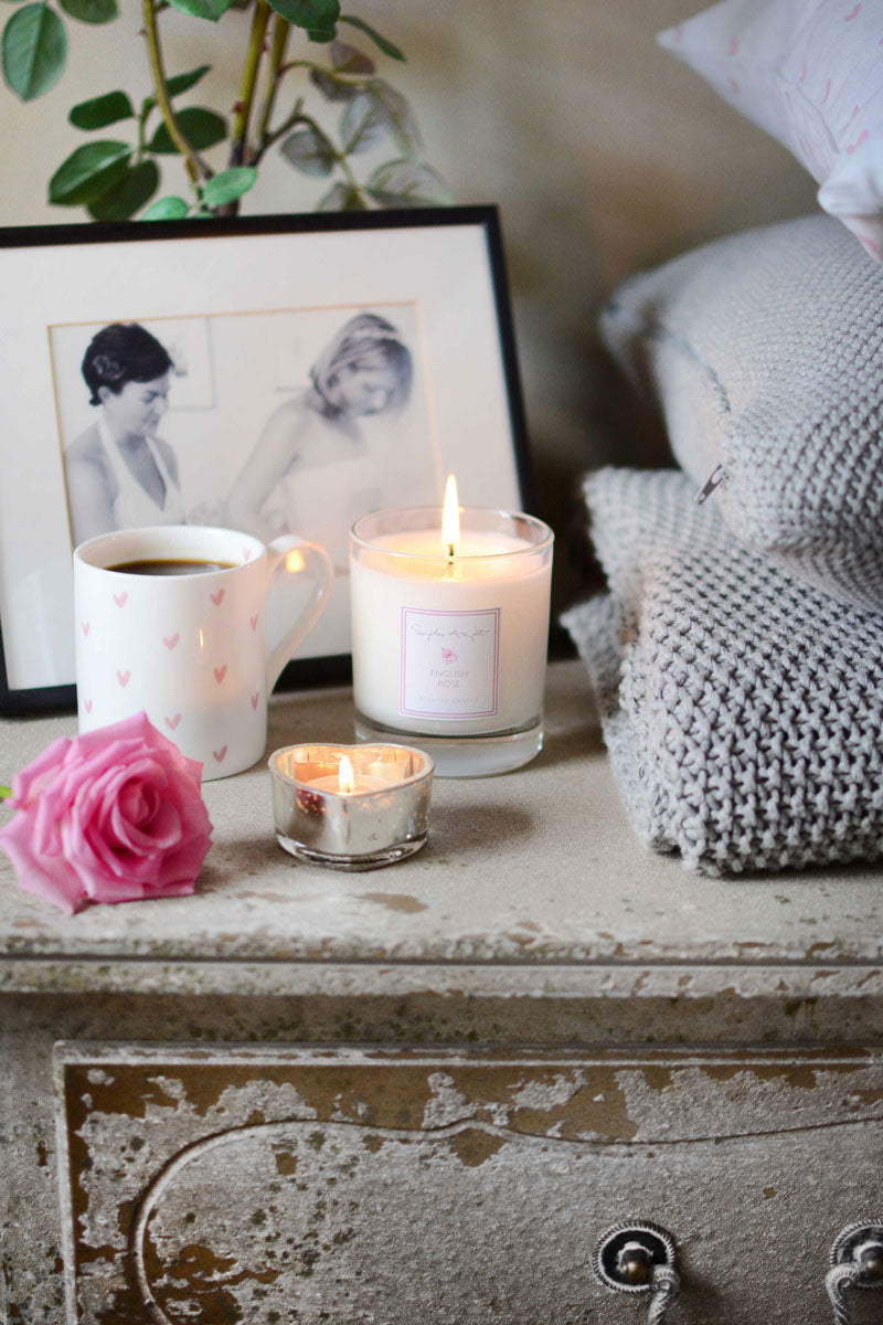 English Rose Scented Candle -220g