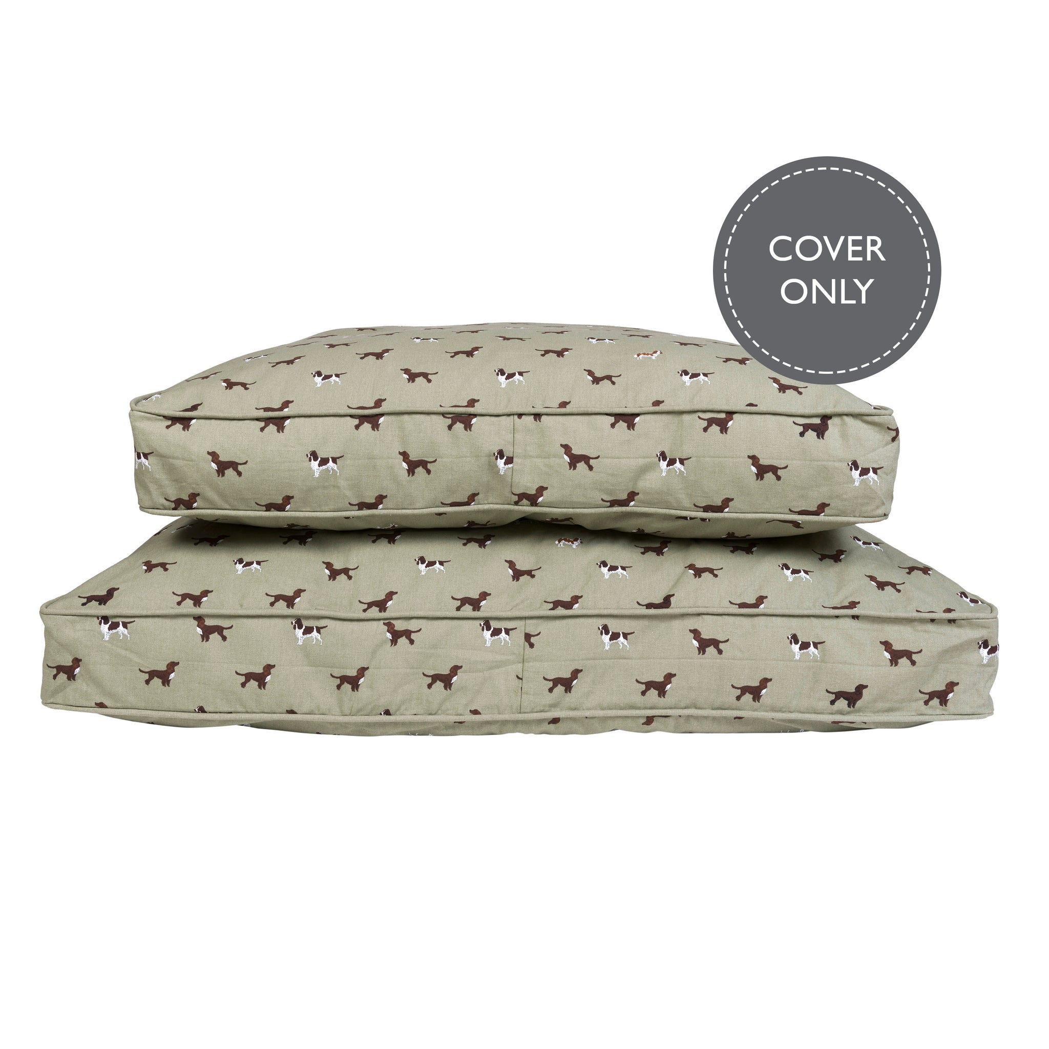 Spaniels dog bed cover by Sophie Allport