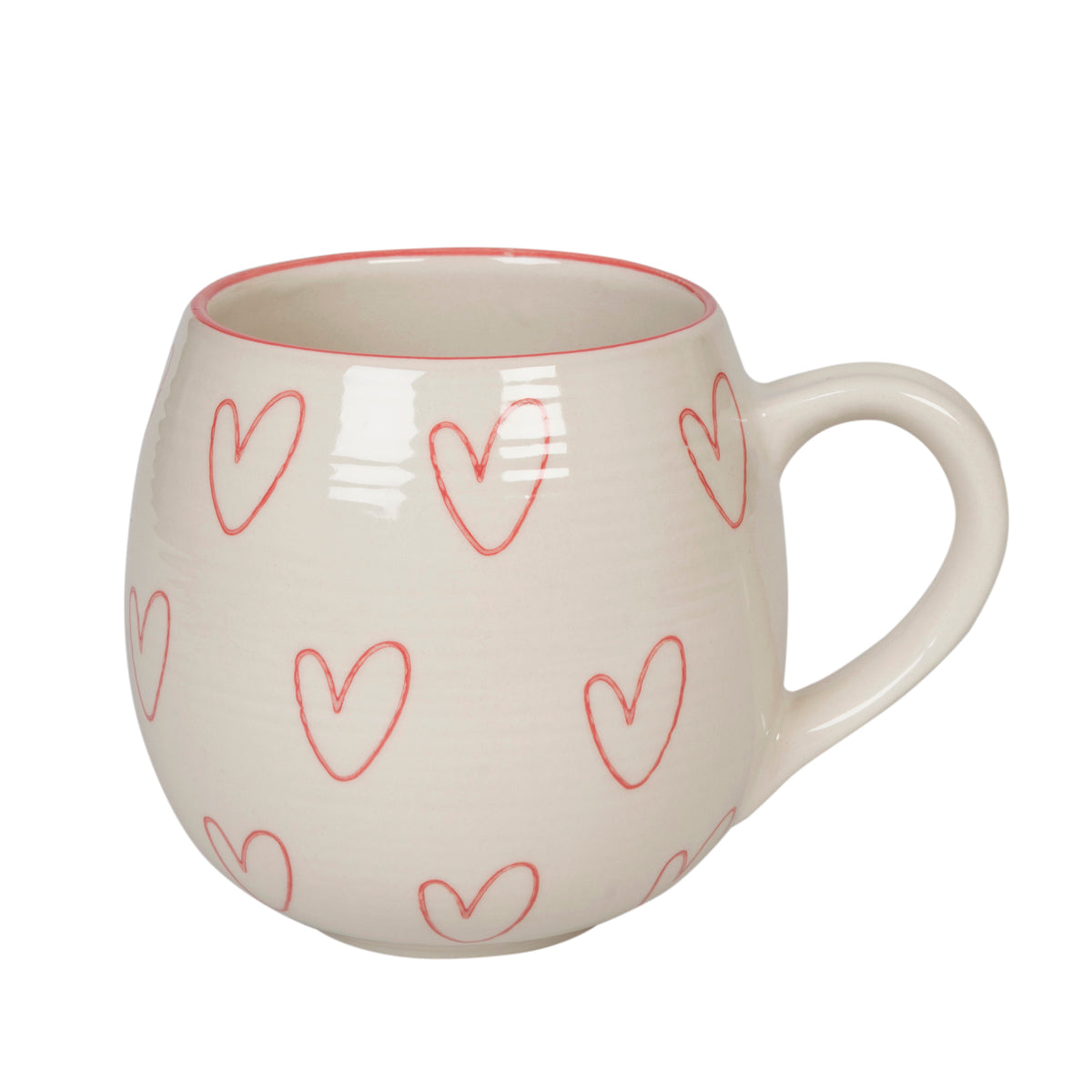 Hearts Stoneware Mug by Sophie Allport