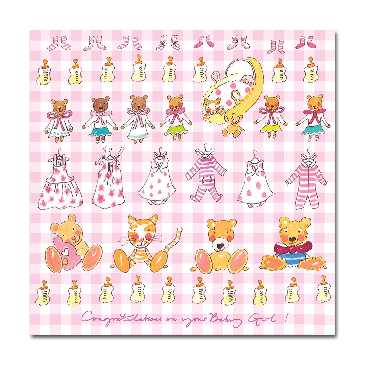 Congratulations Baby Girl! Greeting Card