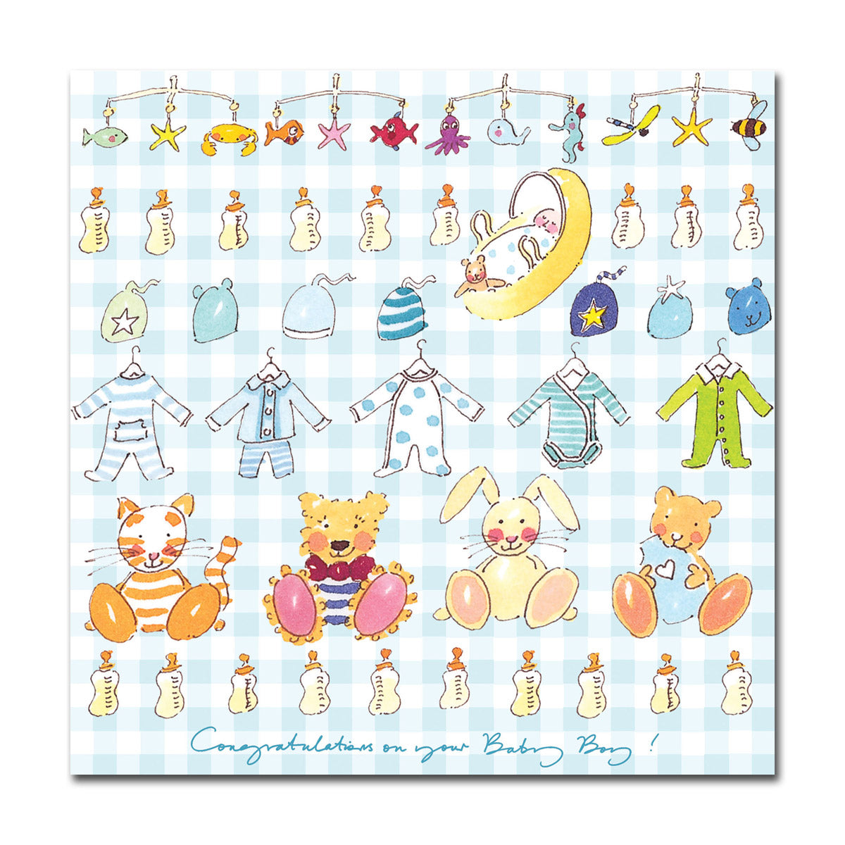 Congratulations Baby Boy! Greeting Card