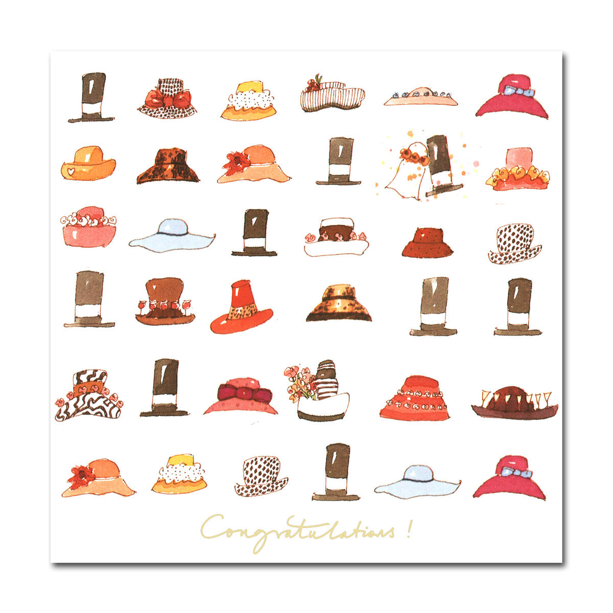 Congratulations! Hats Greeting Card
