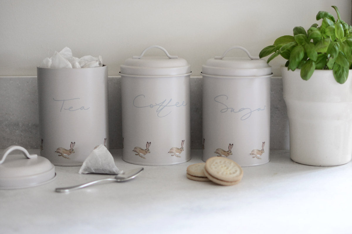 Hare Coffee Storage Tin